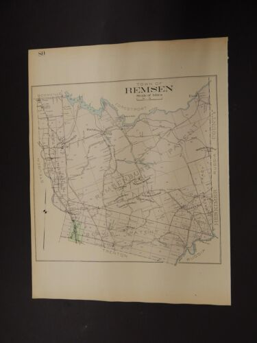 New York, Oneida County Map, 1907 Town of Remsen R3#28