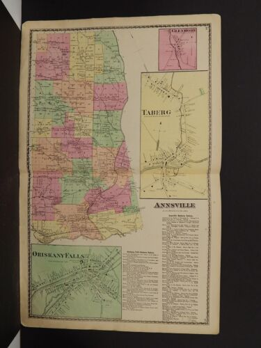 New York, Oneida County Map, 1874 Town of Annsville, Double Page Z2#49