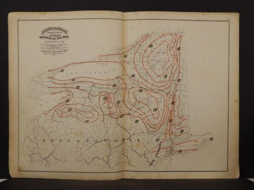 New York Map, 1871 Meteorological, Isothermal Z2#91