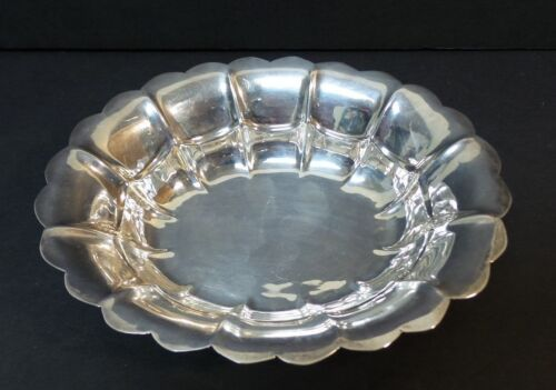 "MID-CENTURY CODAN MEXICO STERLING SILVER 6"" FLUTED EDGE DISH / BOWL, 110 grams"