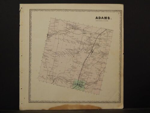 New York, Jefferson County Map, 1864 Town of Adams N4#35