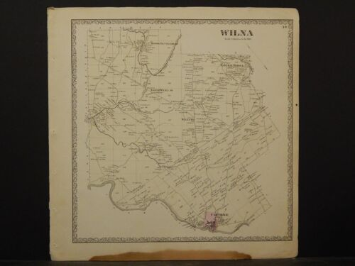 New York, Jefferson County Map, 1864 Town of Wilna N4#45