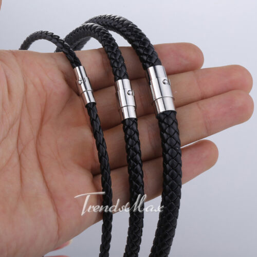 4/6/8m Women Mens Chain Black Brown Cord Rope Man-made Leather Necklace Choker