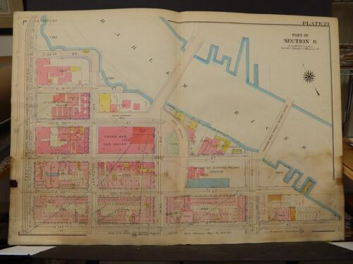 New York, Manhattan Map, 1914 Park to Harlem River, 127th to 132nd  R3#67
