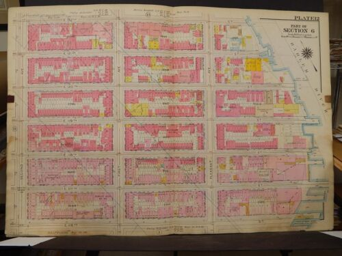 New York, Manhattan Map, 1914 2nd Ave to Harlem River, Harlem R3#80