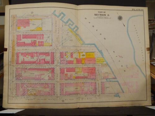 New York, Manhattan Map, 1914 2nd Ave to Harlem River, Film Studio R3#81