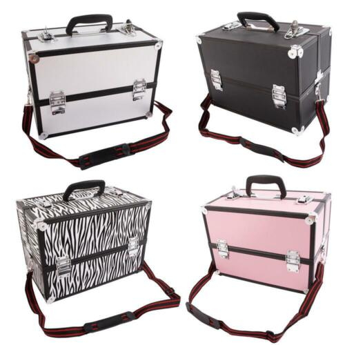 New Large Portable Aluminum Beauty Cosmetic Makeup Jewelry Carry Case Salon Box