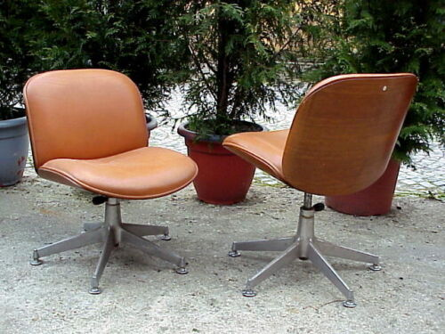 Mim Italy  arm chair in wood and leather by Ico Parisi design in years '70