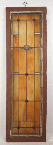 Tall Vintage Stained Glass Window Panel (2885)NJ