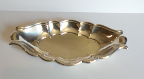 """MID-CENTURY REED & BARTON """"NORMANDY"""" STERLING SILVER BREAD TRAY #X204, c. 1955"""