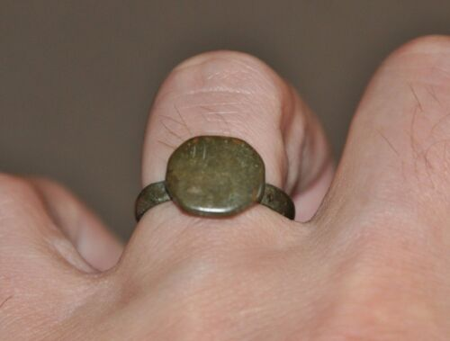 Ancient Authentic Late Roman Empire Legionary Wearable Bronze Ring Sz US 9.5