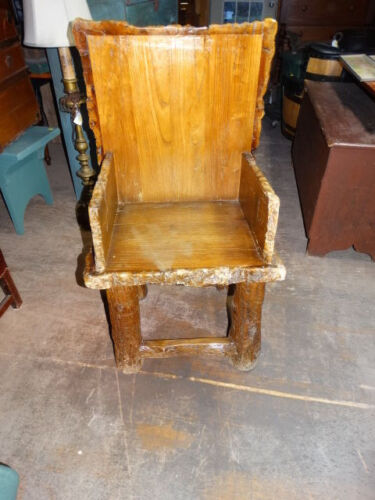 RUSTIC  ADIRONDACK  ARM    CHAIR