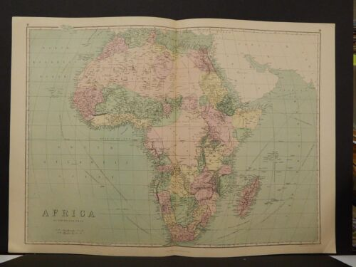 Antique Map,  1873, Africa, Double Page, R4#14