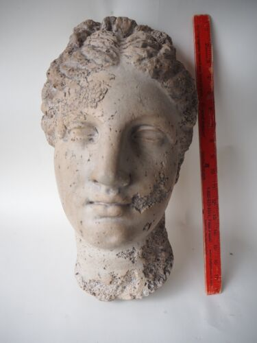 VTG CAST ANCIENT GODDESS WALL BUST REPLICA FOR NY MUSEUM OF NATURAL HISTORY