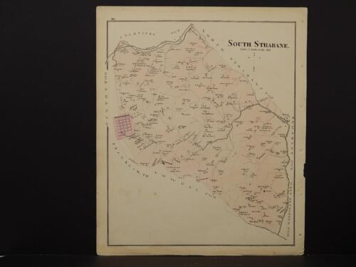 Pennsylvania, Washington County Map, 1876 Town of South Strabane N6#04