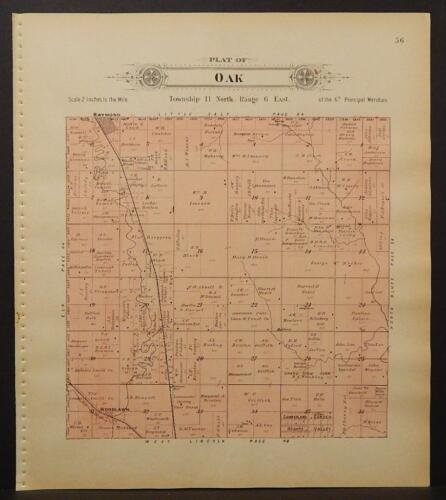 Nebraska, Lancaster County Map, 1903, Township of Oak, L1#52