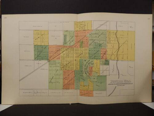 Illinois, Macoupin County Map, 1911, Bunker Hill, Double Page, L1#91