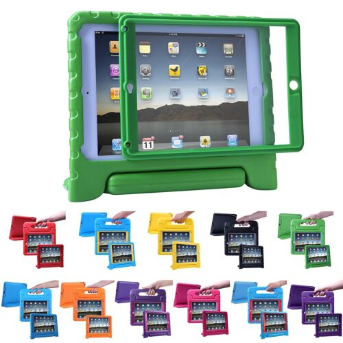 iPad 2 3 4 Case for Kids Shockproof Bumper Cover with Built in Screen Protector
