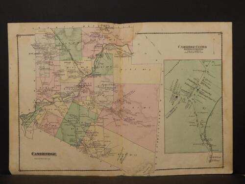 Vermont, LaMoille County Map, 1878, Cambridge Township, Double Page, K1#23
