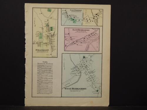 Vermont, Franklin County Map, 1871, West Berkshire, Franklin, K2#10