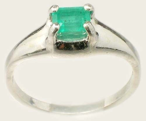 Emerald Ring ½ct+ Antique 19thC Siberian Medieval Chastity Honesty Intelligence