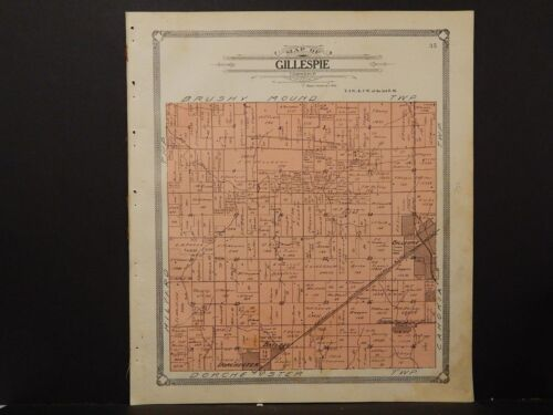 Illinois, Macoupin County Map, 1911 Township of Gillespie L2#24