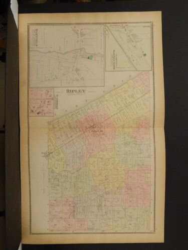 New York, Chautauqua County Map, 1881 Township of Ripley, Double Page !J1#77