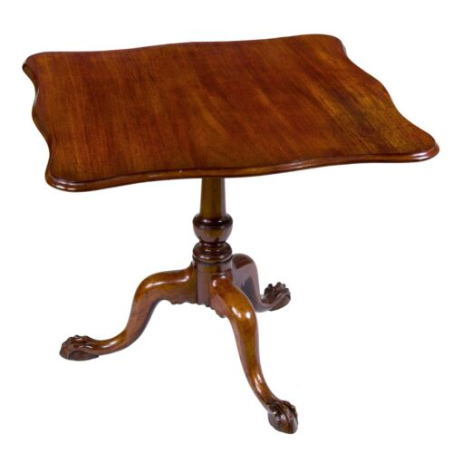 SWC-Chippendale Mahogany Serpentine Tilt-Top Tea Table, MA, c. 1770-80