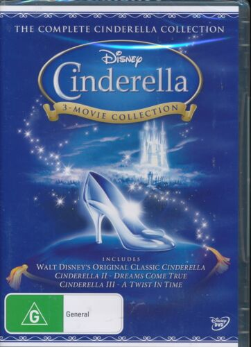 Disney The Complete CINDERELLA 3-movie Collection DVD NEW Region 4 Classic