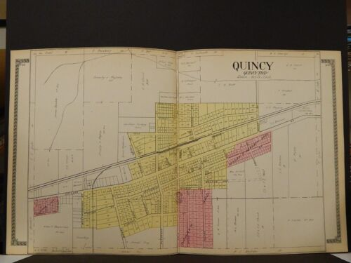 Michigan, Branch County Map, 1915 Quincy L2#58