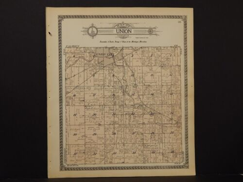 Michigan, Branch County Map, 1915 Township of Union L2#75