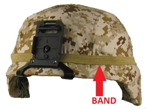 M1 HELMET MILITARY 10 PACK COYOTE BAND CATS EYE PASGT  MICH ARMY USMC CAMOUFLAGEOther Militaria - 135