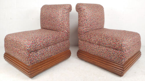 Pair of Mid-Century Modern Slipper Lounge Chairs (5788)NJ