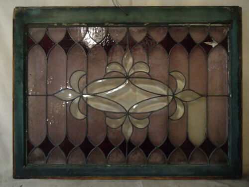 Vintage Antique Stained Glass Window Panel (2001)NS