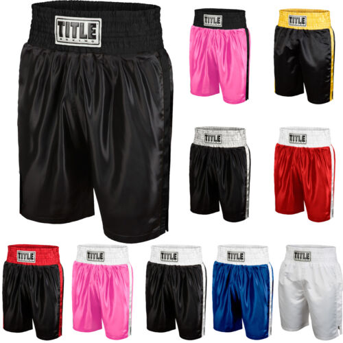 Title Boxing Classic Edge Satin Performance Boxing Trunks <br/> Exclusive Seller of TITLE Boxing on eBay