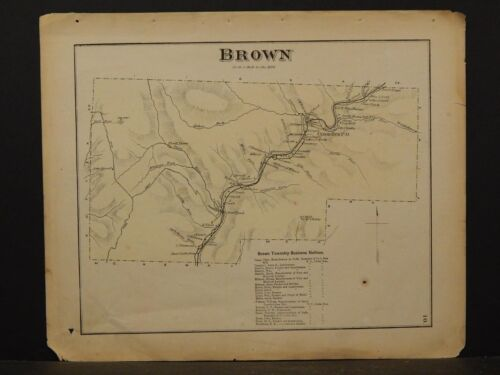 Pennsylvania, Lycoming County Map, 1873  Township of Brown !Y2#56