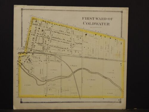 Michigan, Branch County Map, 1872, Coldwater, 1st Ward, Y3#30