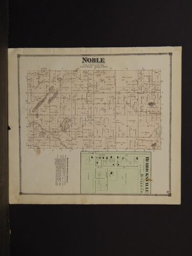Michigan, Branch County Map, 1872, Noble Township, Y3#37