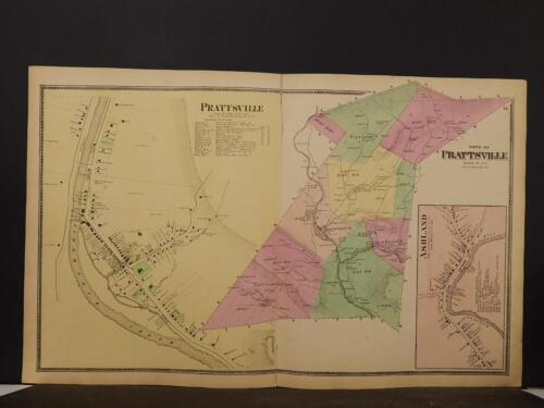New York, Greene County Map, 1867, Prattsville, Double Page, Y4#04