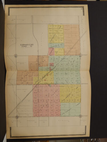 Illinois, Ford County Map,1901, Bibson City Double Page J3#43