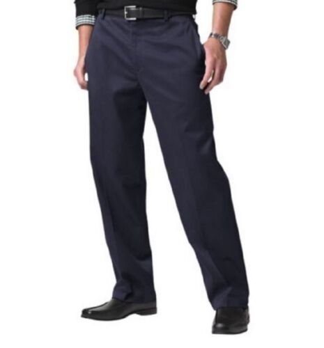 Dockers Men's Straight Fit Flat Front Signature Khaki Pants 958280002 Navy Blue