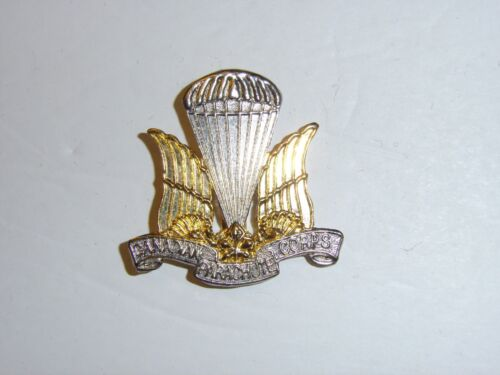 6bccc17572c47  16.09 CAD a0354 WW2 Canadian Officers Para Parachute Corps Beret Badge  silver gold IR17AUnited States - 156437