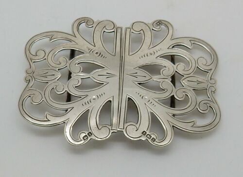 Antique 1908 English Hallmarked Sterling Nurses Belt Buckle Birmingham England