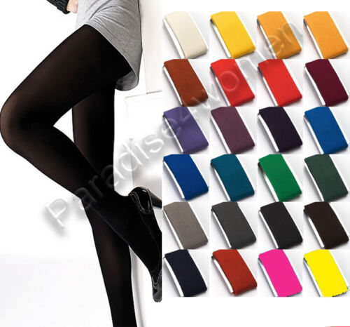 New WOMENS Microfibre TIGHTS, 40 or 100 Denier,Various Sizes S-XL and 25 Colours