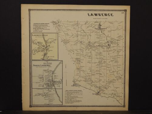 New York, St. Lawrence County Map, Lawrence Township 1865  Y5#58