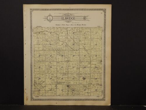 Michigan, Oceana County Map, Elbridge Township, 1913   K4#61
