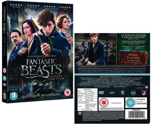 FANTASTIC BEASTS (2016) AND WHERE TO FIND THEM - Harry Potter - Eu R2 DVD not US