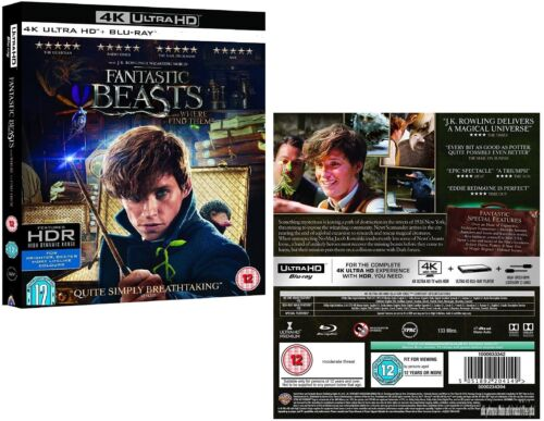 FANTASTIC BEASTS (2016) AND WHERE TO FIND THEM Harry Potter RgFre 4K UHD+BLU-RAY