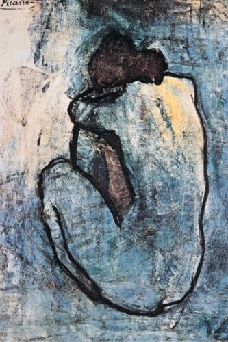 """Blue Nude by Pablo Picasso art poster 24 x 36"""" classic art print"""