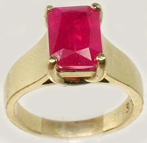 14kt Gold Ring Ruby Antique 19thC Handcut 3¼ct+ Ancient Roman Judicial Talisman